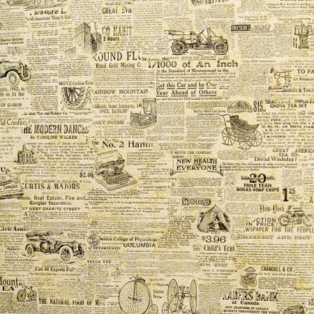 Шпалеры с имитацией старинных газет