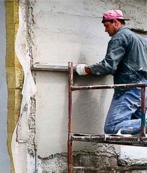 Штукатурка наружных стен по утеплителю