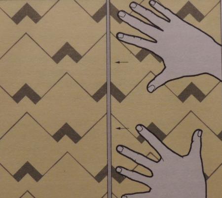Сложный повторяющийся узор требует подгонки полотен по высоте.