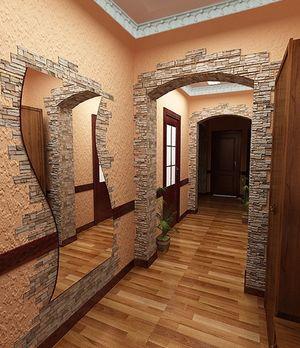 Сочетание разных видов отделки – прекрасный вариант для комнаты