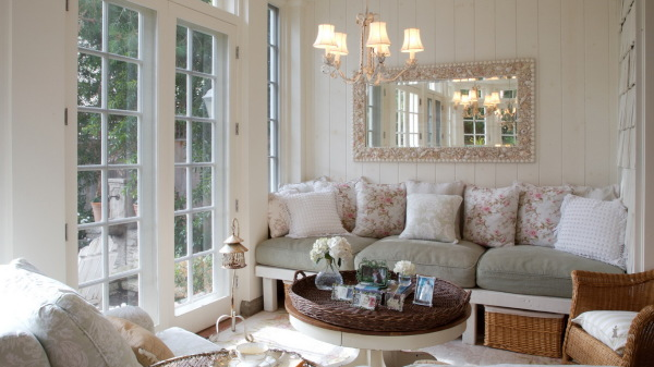 Солнечная гостиная в стиле прованс