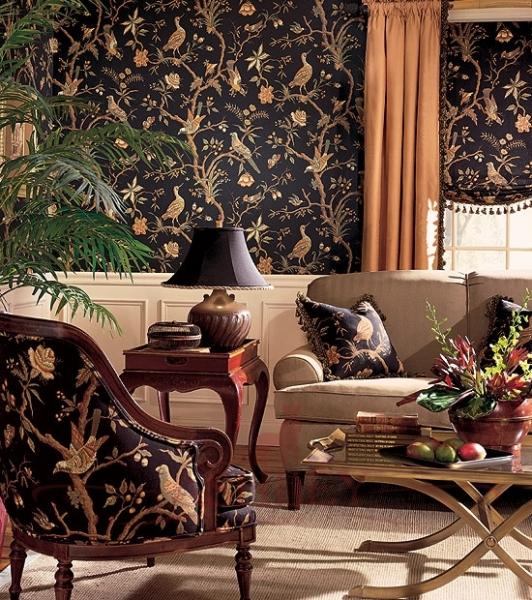 Соответствие обойного принта и текстиля мебельной обивки