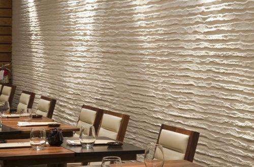 Создание на стене необычного рельефа с использованием фактурной штукатурки
