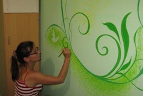 Создание живописного орнамента с помощью красок