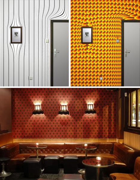 Создать обои в 3д для стен можно и обычными визуальными и световыми эффектами
