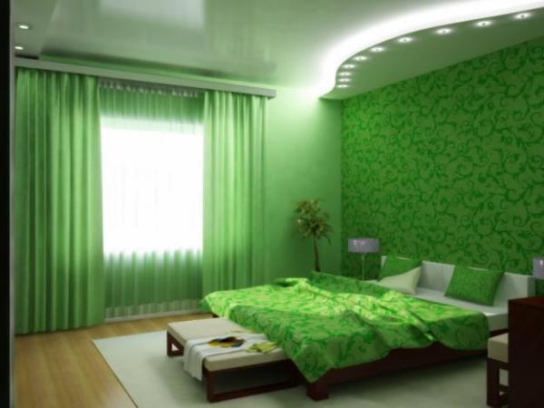 Спальня в подобных тонах имеет оригинальный внешний вид и создает комфорт