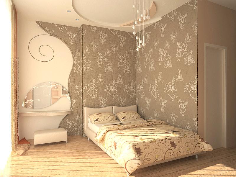 Спальня в таких тонах будет казаться теплее.