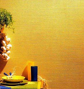 Стеклообои, выкрашенные в желтый цвет.