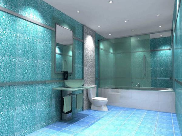 Стеклоткань не боится влаги и может быть использована для облицовки стен в санузлах.