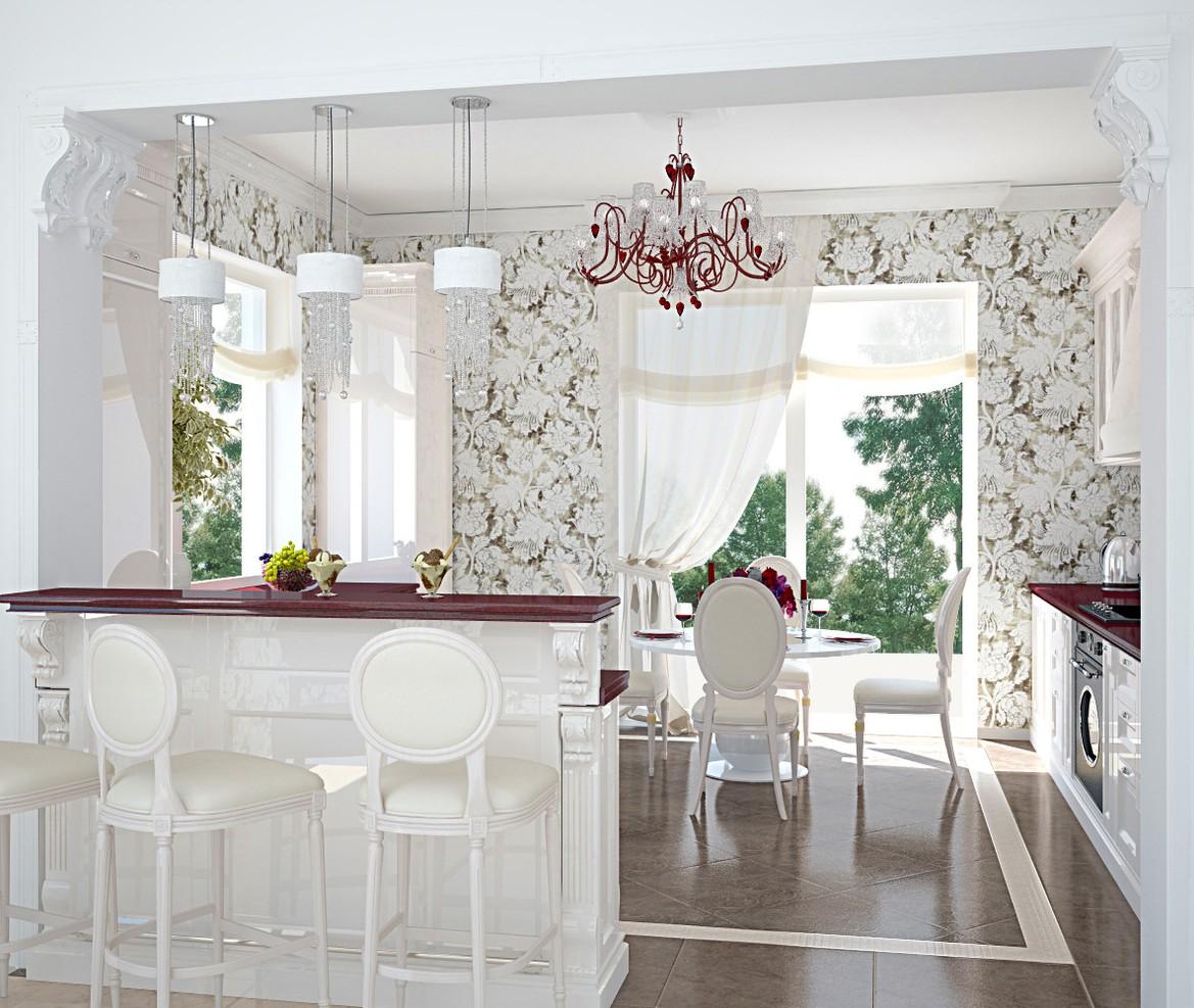 Стеновое покрытие создает настроение кухни.
