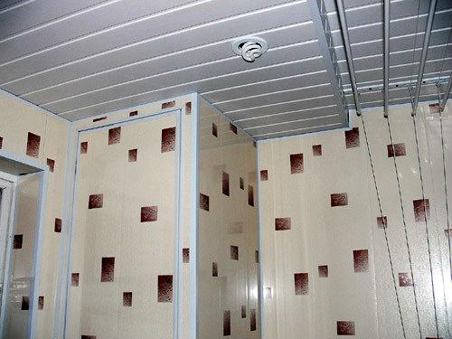 Стены и потолок обшитые ПВХ