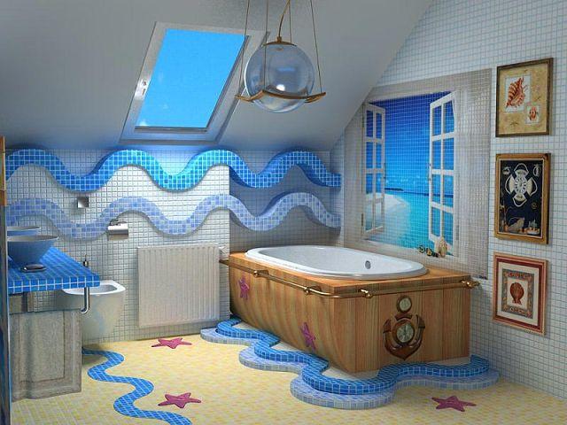 Стилизованная ванная комната.