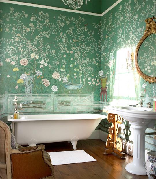 Стильная отделка ванной в английском стиле