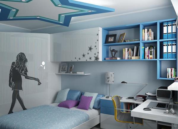 Стильно оформленное помещение с монохромными фотообоями