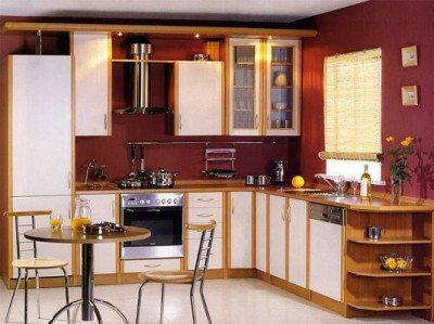 Светлая мебель – лучшее решение в оформлении кухни