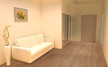 Светлая отделка стен визуально расширит любое помещение