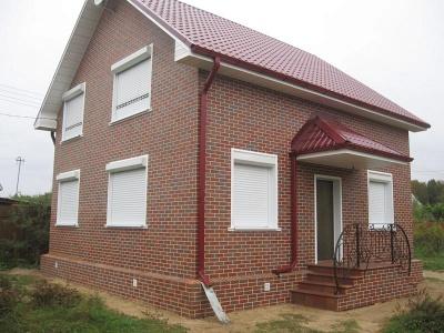 Так должен выглядеть дом в результате облицовки панелями.