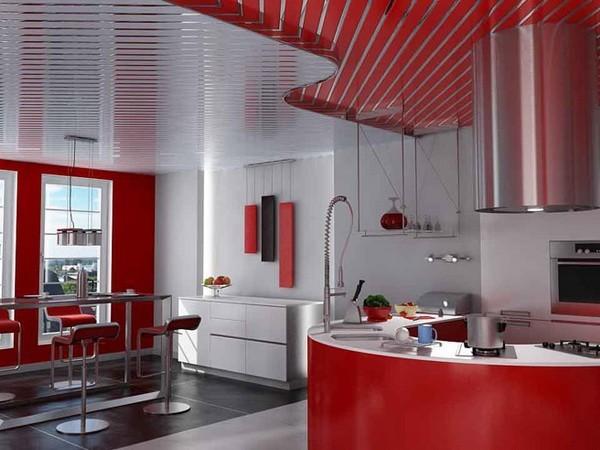 Такие варианты отделки потолка лучше всего подходят для кухонь, санузлов и прихожих