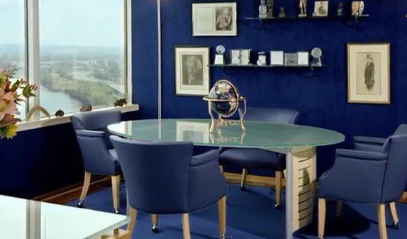 Темно синие обои – отличное решение для кабинета