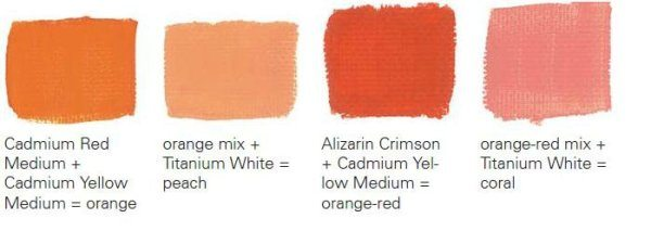 Тёплые оттенки оранжевого цвета