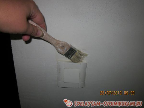 Тонкая работа вокруг выключателя