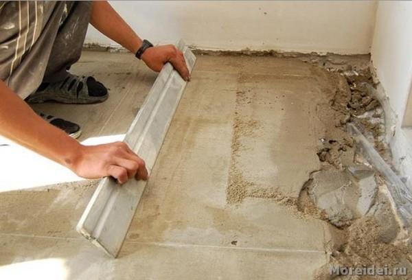 Цементная стяжка – лучший вариант чернового основания