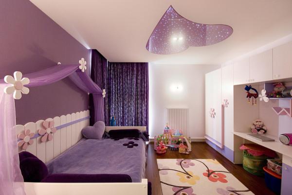 Цвет играет очень важную роль в интерьере девчачьей спальни