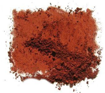 Цвет сухого сурика на основе оксида железа.