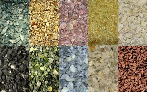 Цвет зависит от окраски мраморного гранулята