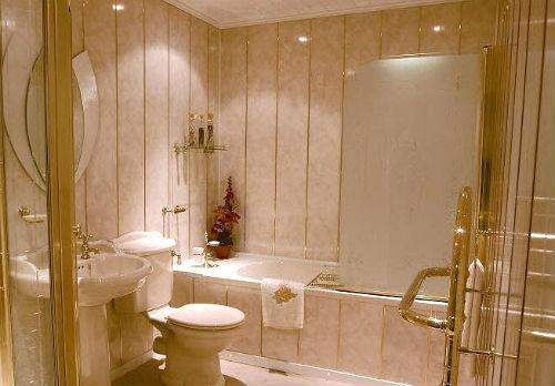 Туалет отделанный ПВХ