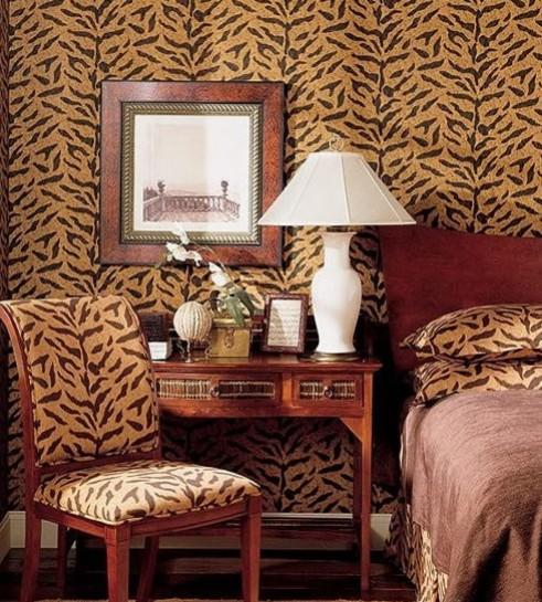 Удачный пример леопардового интерьера