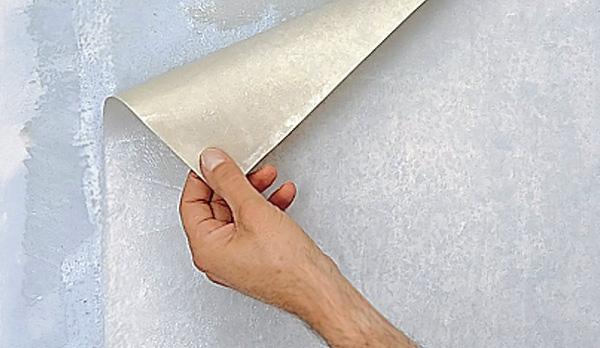 Удаление полотна с поверхности гипсокартона