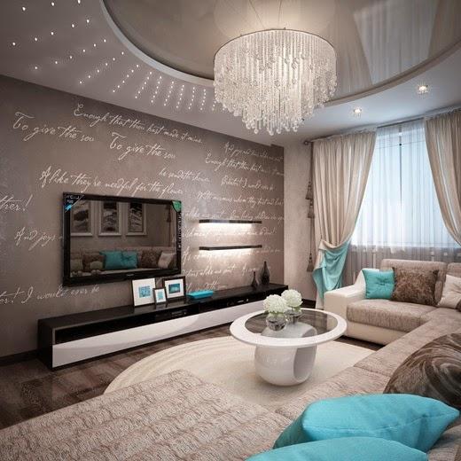 Ультрамодная комната приема гостей, оформленная в необычной палитре