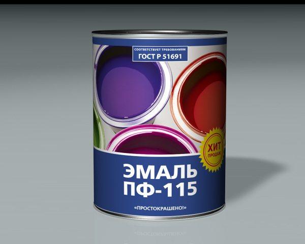 Универсальная алкидная краска ПФ-115.