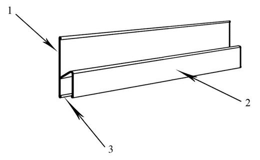Устройство очень простое: цифрой 1 обозначена рабочая поверхность, цифрой 2 – держатель для повышения удобства использования, 3 – это ребро жесткости, повышающее прочность конструкции