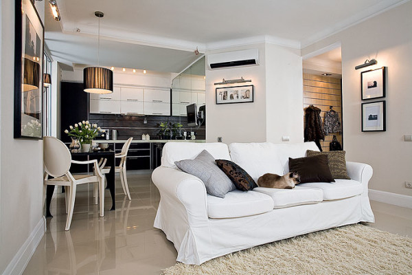 В однокомнатных квартирах главным показателем уюта является правильное зонирование пространства.