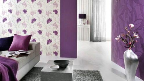 Вариант повторение цветов стен в интерьере