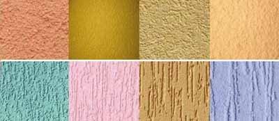 Вариантов фасадной рельефной штукатурки очень много, она самодостаточна сама по себе, и вопрос, чем покрасить фасад оштукатуренного дома, отпадает сам по себе