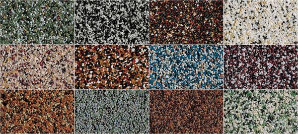 Варианты камешкового покрытия