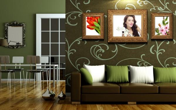 Варианты отделки стен в гостиной так разнообразны, что очень важно будет вовремя остановиться в своём выборе и не искать лучшего в хорошем (фото «А»)