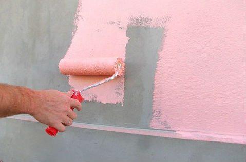 Варианты покраски фасада дома валиком