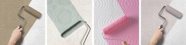 Варианты покраски флизелиновых обоев