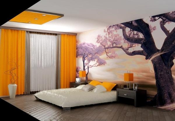 Ваша кровать может расположиться под сенью цветущей сакуры
