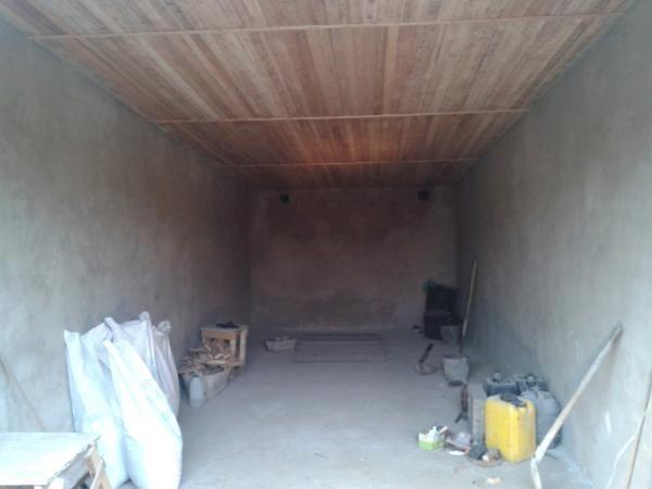 Вид оштукатуренного гаража