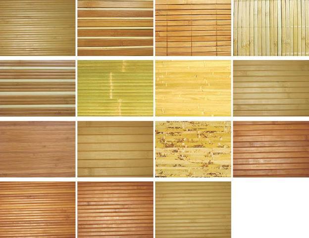 Виды бамбуковой отделки