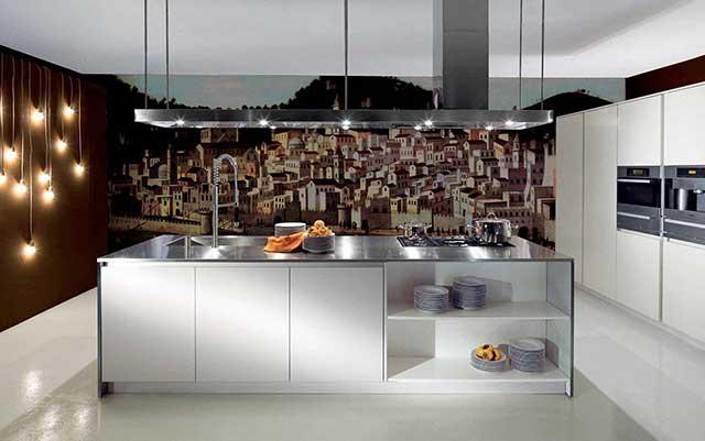 Виниловые фотообои на стену для кухни