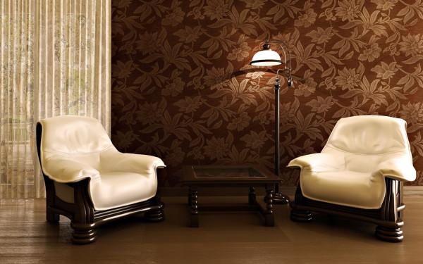 Виниловые обои сделают вашу гостиную очень уютной