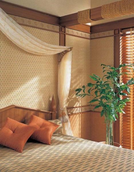 Виниловые обои в спальне – шик, спокойствие и уют