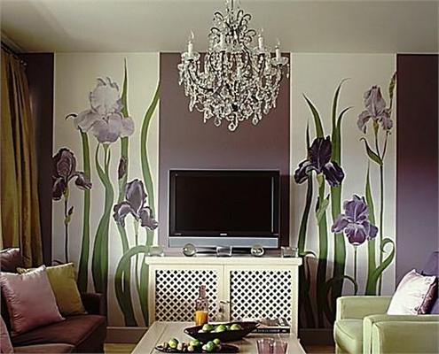Визуальное сокращение длины комнаты с помощью симметричного комбинирования