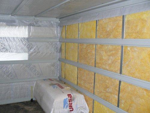 Внутренняя отделка бани из газобетона с утеплением